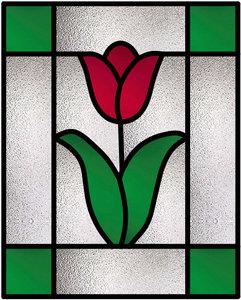 Glas in lood raam 8