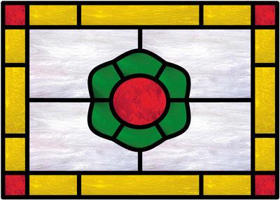 Glas in lood raam 9